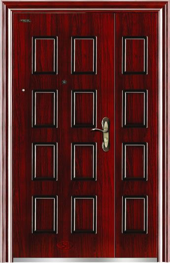 Previous steel security door BY-S-45R  sc 1 st  Steel-wood interior doors - China Buyang Co.Ltd. & steel security door BY-SM-26 - Steel security doorExterior door ...